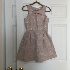 Dress with front cut out